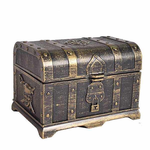 Plastic Casket Pirate Treasure Box Crystal Gem Jewelry Storage box Organizer Chest gift box candy box