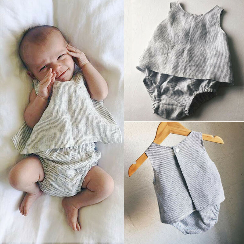 2PCS Baby Kids Girl Party Outfit Tops T-Shirt Tank Short Pants Clothes Set