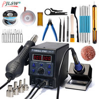 8786D I BGA Rework Station Digital Display Iron Soldering Stations SMD Hot Air Gun Soldering Station Welding Soldering Supplies