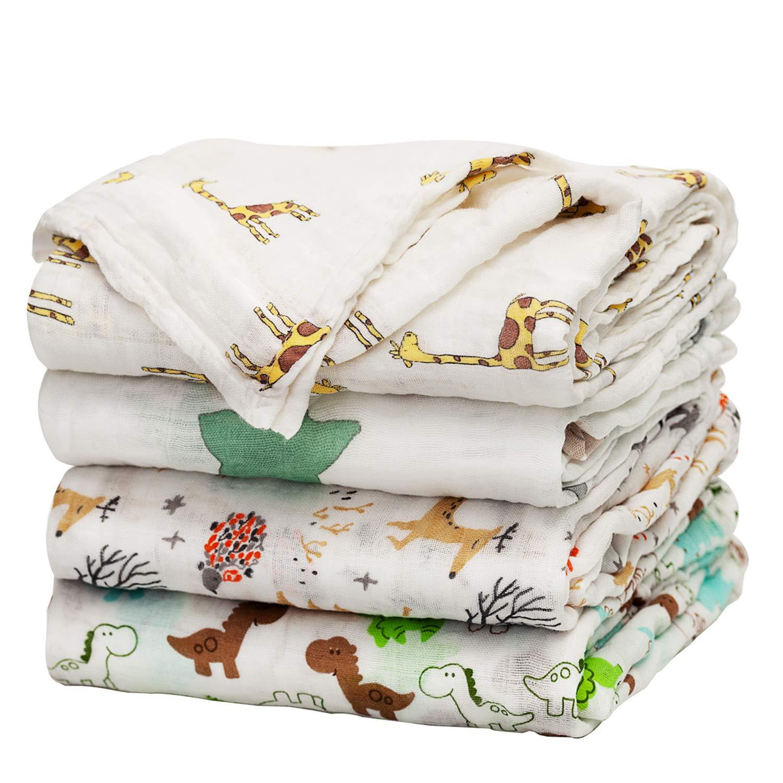 1pcs Cartoon Cotton Baby Muslin Blanket Soft Newborn Bath Gauze Infant Swaddle Wrap Sleepsack Stroller Cover Play Mat Blankets