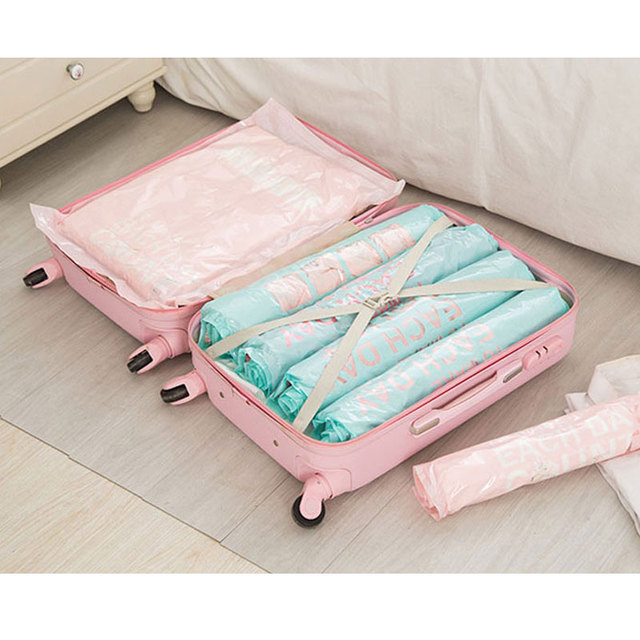 Waterproof Travel Clothes Organizer Bags Good Quality Space Saving for Suitcase Rolling Compress Vacuum Bags