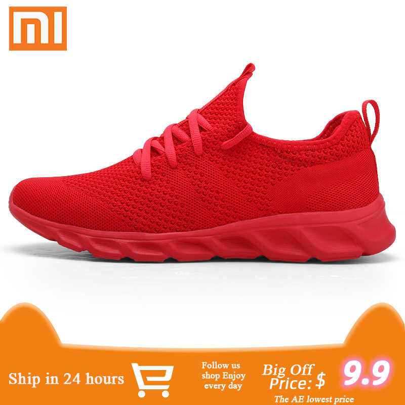 Xiaomi Men's Casual Shoes Men Sport Shoes Breathable Sapato Masculino Lightable Man Sneakers Comfortable Jogging Shoes for Men