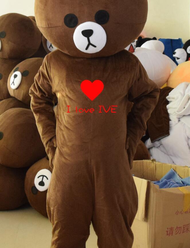 ADS Teddy Bear Of Ted Bear Head Costume Halloween Mascot Cartoon For Lover Gifts