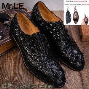 Мужские туфли-Дерби из натуральной крокодиловой кожи, повседневные Формальные Брендовые вечерние туфли из 100% натуральной кожи, роскошные с...