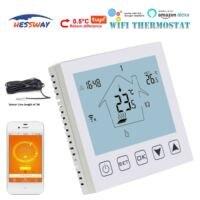 Hessway 90 ~ 240vac 16a 주간 프로그래밍 가능한 언더 플로어 난방 서모 스탯 wifi 듀얼 센서 용|실험실 자동온도조절장치|사무실 & 학교 용품 -