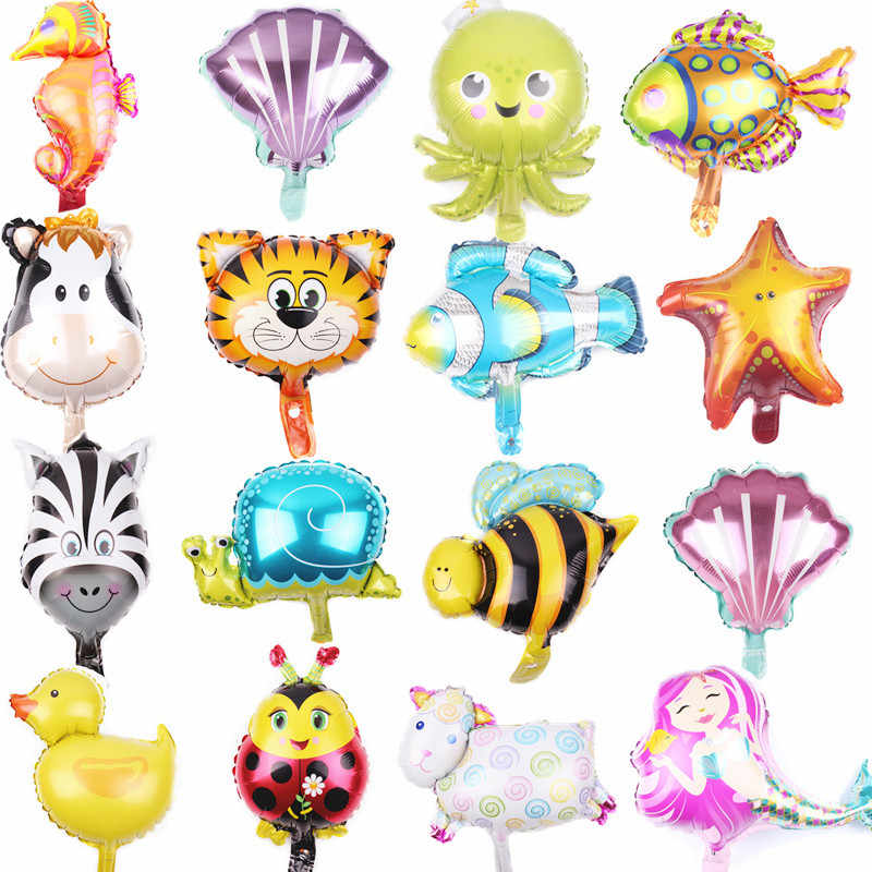 10pcs 41x43.5cm Mini Mermaid Theme Shell Foil Balloons Happy Birthday Baby Shower Decorations Party Supplies Globos