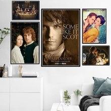 Новинка Outlander, ТВ-серия, постер с изображением персонажа из фильма и печать на холсте, картина маслом, настенные картины, домашний декор, quadro ...