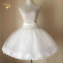 Falda corta de corte en A para mujer, enaguas de miriñaque nupcial, para vestidos de boda, enaguas, Rockabilly, Jupon, Saia