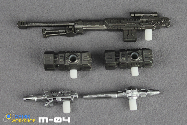 Matrix Workshop M-04 Weapon Upgrade Kit For SIEGE Deluxe Ironhide