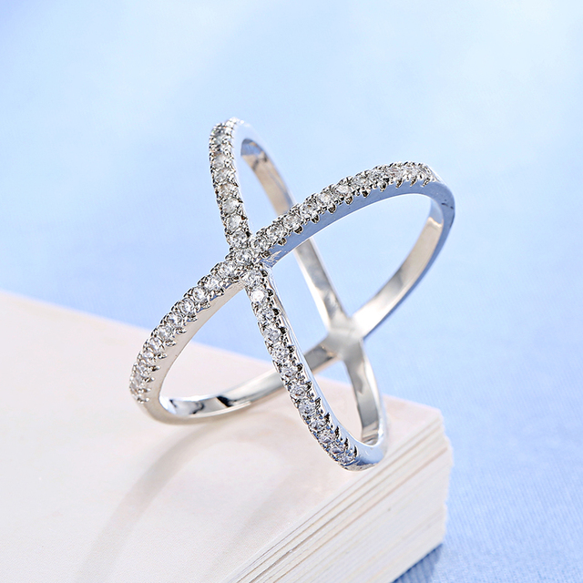 AAA Cubic Zirconia Micro Pave Setting Big X Shaped Ring Products under $30 Rings 2ced06a52b7c24e002d45d: 6 7 8 9