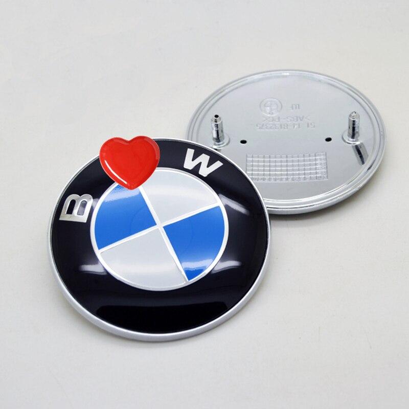 1pcs 72mm 82mm Car Emblem Badge Hood Front Rear Trunk Logo Labeling For Bmw E46 E39 E38 E90 E60 Z3 Z4 X3 X5 X6 Car Styling