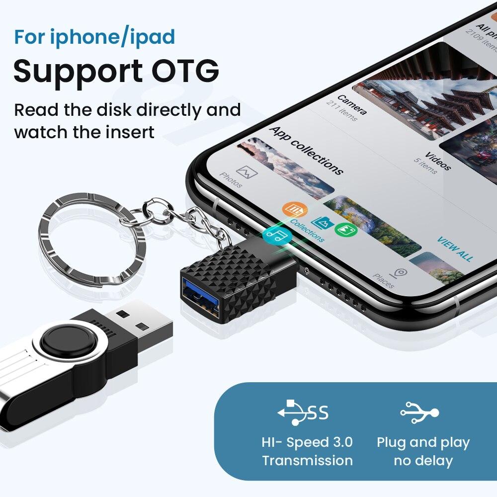 para iphone otg adaptador com corrente chave 02