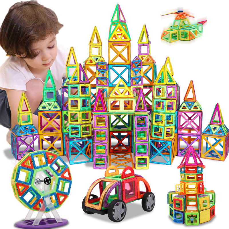 KACUU Magnetic Designer Construction   Building Toys 157PCS Big Size Magnetic Blocks Magnets Building Blocks Toys For Children