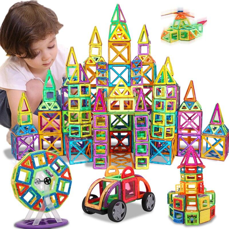 KACUU magnétique concepteur Construction & Construction jouets 157 pièces grande taille blocs magnétiques aimants blocs de Construction jouets pour les enfants