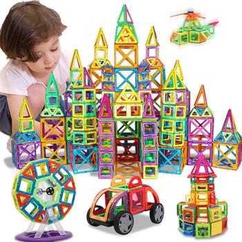 KACUU układanki magnetyczne budowlane i budowlane zabawki 157 sztuk Big Size bloki magnetyczne magnesy klocki dla dzieci tanie i dobre opinie Magnent Magnetic Blocks 13-14Y 7-9Y 4-6Y 10-12Y 14Y 2-3Y Magnets Blocks
