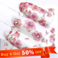 WUF 2019 Maple / Feather / Flower Water Transfer Nail Sticker Decals Beauty Decoration Designs DIY Color Tattoo Tip
