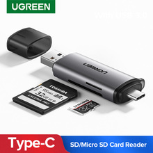 Ugreen Card Reader USB 3.0 Type C to SD Micro SD TF Adapter for laptop Accessories OTG Cardreader Smart Memory SD Card Reader sd card reader micro sd tf card usb sd adapter tf card otg adapter multi function cardreader smart memory usb card reader