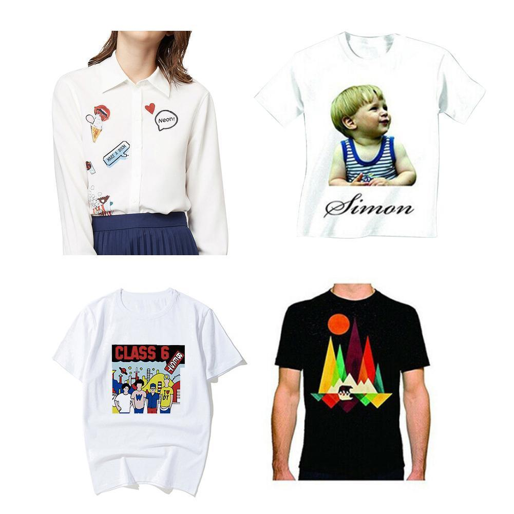 10pcs/Set T-Shirt A4 Transfer Paper Iron On Heat Press For T- Shirts Inkjet Light Printing Fabrics Supplies Paper Print Off R7K2