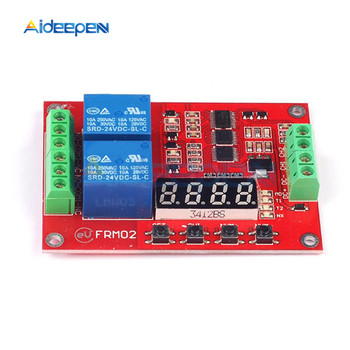 цена на DC 5V 12V 24V 2 Channel Multi Function Relay Module Time Delay Relay Self Lock Cycle Timing Relay Module Timer Control Switch