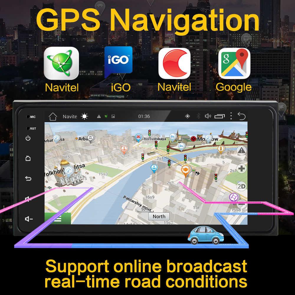 2 Din Auto Android 8.1 Gps Radio Voor Toyota Camry Viso Corolla Wish Altis Nissan Maat 200*100 auto Gps Android Auto Speler