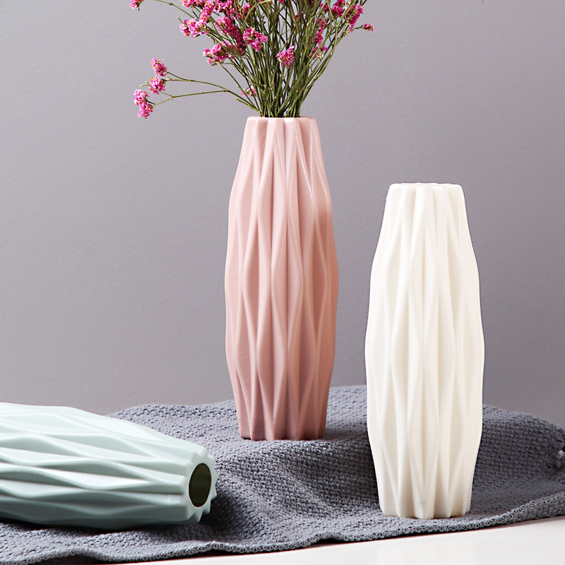 Nordic vase home flower arrangement flower living room modern creative simple fresh water culture home decoration ornaments-in Vases from Home & Garden