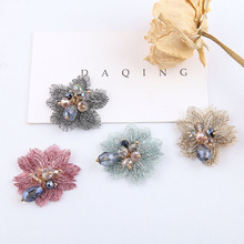 DIY handmade jewelry accessories antique embroidered crystal