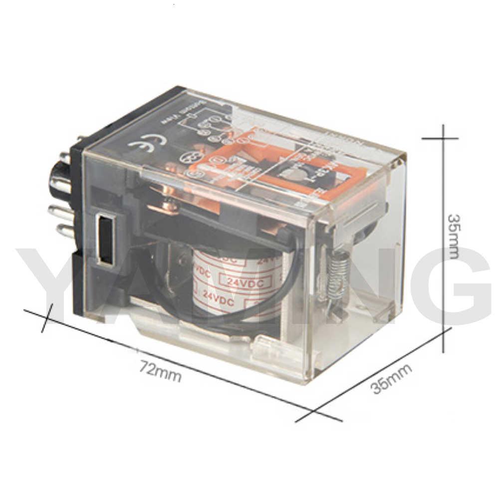 Relais électromagnétique Mini 11 broches 10A 24VDC AC220V MK3P-I usage général moyen commutation composant électronique