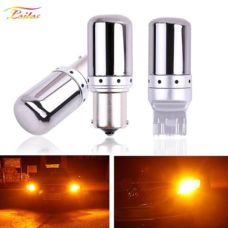 1 шт. S25 1156 BA15S P21W Canbus BAU15S PY21W T20 7440 W21W светодиодный ные лампы 3014 без ошибок Canbus указатели поворота, стоп-сигналы