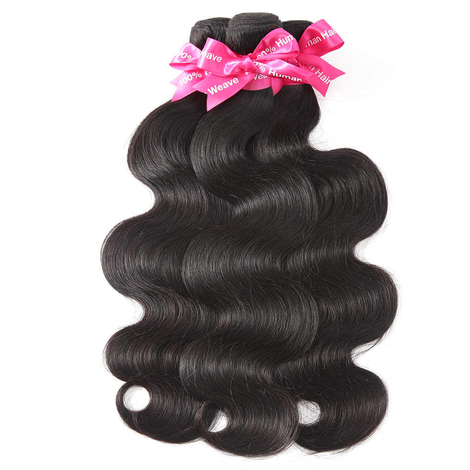 Luvin OneCut Hair Body Wave 8-34inches Malaysian Hair Bundles Natural Color 100% Human Hair weaving 3 Piece Remy Hair Extension