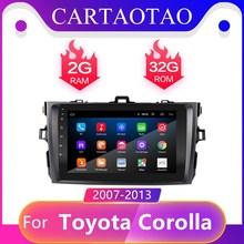 2 الدين أندرويد 8.1GO لتويوتا كورولا E140/150 2006 2013 سيارة الملاحة فيديو مشغل وسائط متعددة راديو السيارة 2.5HD لتحديد المواقع واي فاي لاعب