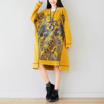 Long Sleeve Oversize Hoodies Dress Women Sweatshirt Dress Irregular Pullovers Batwing Sleeve Fashion Print Pockets Casual Coats цена 2017