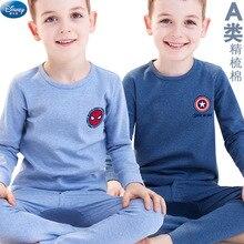 Original Disney Boys Underwear Set Cotton Pure Cotton Children's Big Children's Autumn Clothes Longpants Boys Pajamas