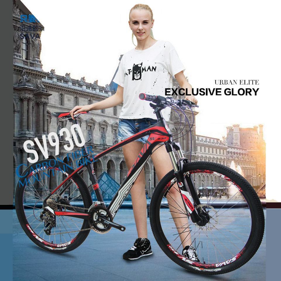 New Brand Mountain Bike Carbon Fiber Frame 26 Inch Wheel 27 Speed Shiman0 Outdoor Sport Downhill Oil Disc Brake Bicycle