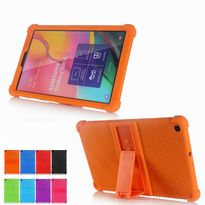 For Samsung GALAXY Tab A 10.1 2019 case SM- T510 T515 Kids Funda case Tablet Silicone Shockproof Stand Cover for T510 Conque image