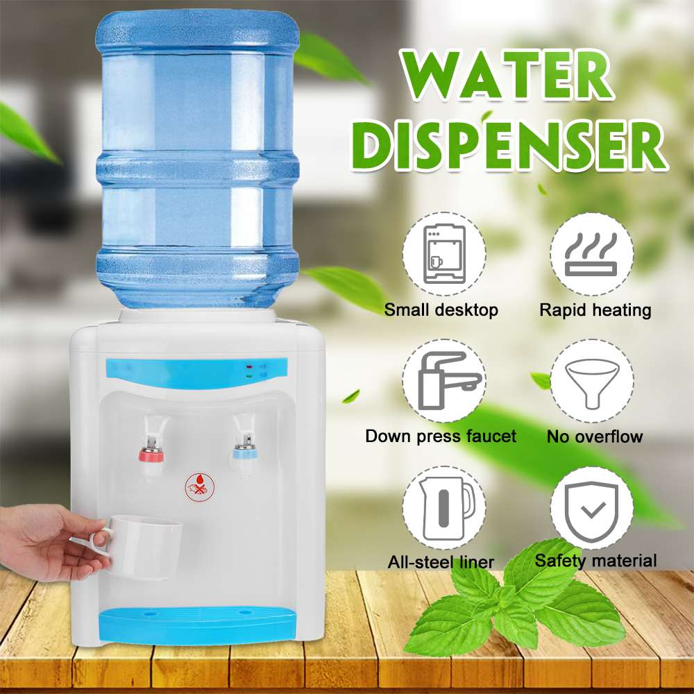 Cold & Hot Electric Water Dispenser Home Office Desktop Drinking Fountain Warm Water Cooler Heater Hostel Coffee Tea Bar Helper