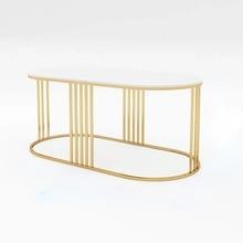 Nordic Simple Office Coffee Tables Modern Minimalist Nail Salon Reception Lounge Area Light Luxury Marble Desks Customized