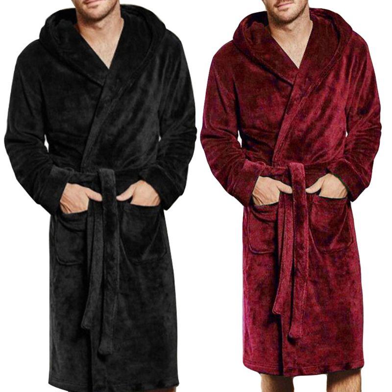 NEW Mens & Ladies Cotton Hooded Bathrobe Towelling Bath Robe Dressing Gownx1