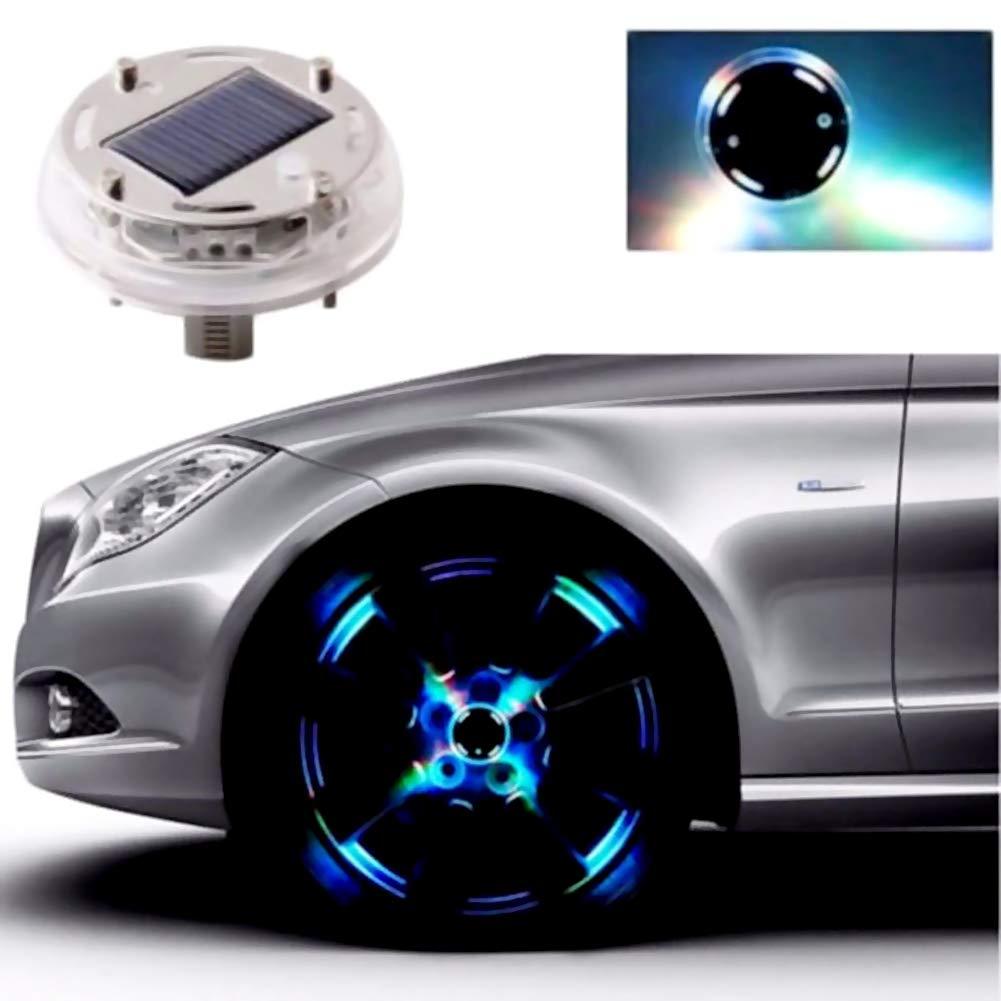 Hot Solar Energy LED Flash Waterproof Car Tire Lamp Rim Wheel Centre Hub Light