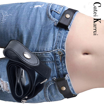 Catei Karrui Buckle-free Elastic Women Belt for Jeans without Buckle  Comfortable Invisible Belt No Bulge No Hassle new цена 2017
