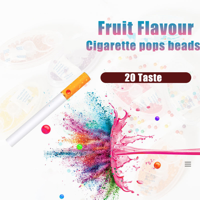100pcs Cigarette Pops Beads Fruit Flavour Mint Flavor  Cigarette Holder  Smoking Accessories  Men Gift Cigarette Holder Filter
