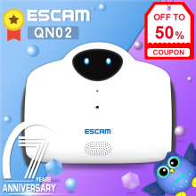 цена на ESCAM Robot Camera Smart WIFI IP Camera HD 720P 1MP Wireless Baby Monitor Touching Interaction Camera Support 2-WAY Audio