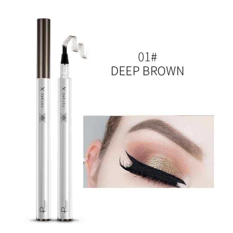 4 สี Microblading Eyebrow TATTOO ปากกาปากกา 4 ส้อมเคล็ดลับ Sketch แต่งหน้า Brow Pencil Waterproof ดินสอเขียนคิ้ว Tint แต่งหน้า TSLM2
