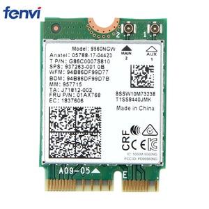 Image 1 - Dual Band 1.73Gbps Wireless For Intel AC 9560 9560NGW NGFF Key E Wifi Card 9560AC 8020.11ac Bluetooth 5.0 Laptop for Windows 10