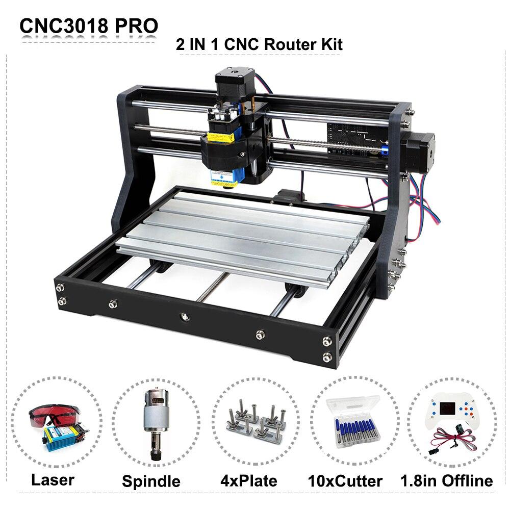 DIY CNC 3018 Pro Router Curve Engraving Machine Laser Engraver GRBL Offline Control