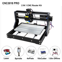 Ship from EU/RU/China DIY CNC Router Machine 3018PRO 500MW/2500MW/5500MW 15W Laser Engraver with GRBL