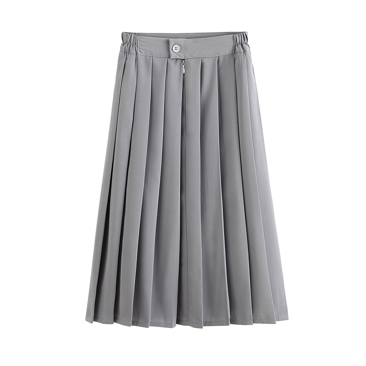 2020 New 5XL High Waist A-Linen Women Pleated Skirt Saia Stretch Waist Plus Size Women Midi Skirt Faldas Jupe Femme