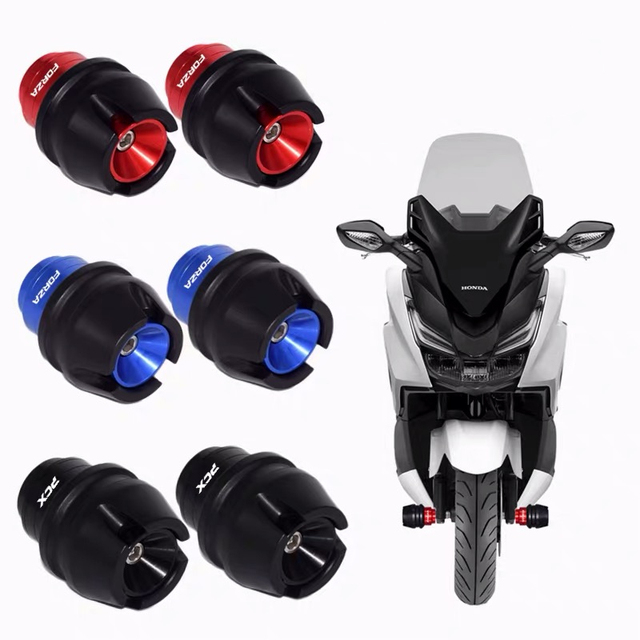 Motosiklet aksesuar ön çatal tekerlek düşme koruma çerçeve kaymak Anti çarpışma koruyucu HONDA PCX 125 150 FORZA 125 300 250