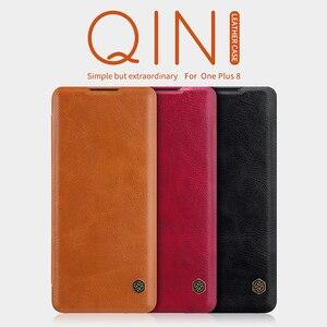 Image 2 - Pour OnePlus 8 étui de téléphone portable NILLKIN PU étui de téléphone à rabat pour OnePlus 8 Pro housse de protection portefeuille de luxe étui en cuir