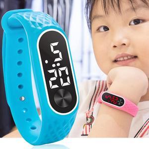 Детские часы для спорта на открытом воздухе TPU мягкий ремешок цифровой светодиодный наручные часы тонкий детский браслет подарок детские ч...
