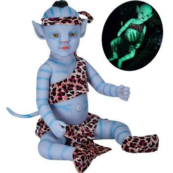 Bebé Reborn, muñeca de bebé de 20 pulgadas, luz nocturna, cuerpo completo...